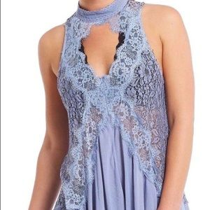 Free People Tell Tale Heart Lilac Lace Dress
